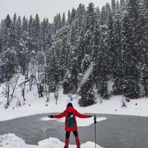 Juda ka Talab frozen lake